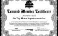Certainteed Tenured Member Certificate
