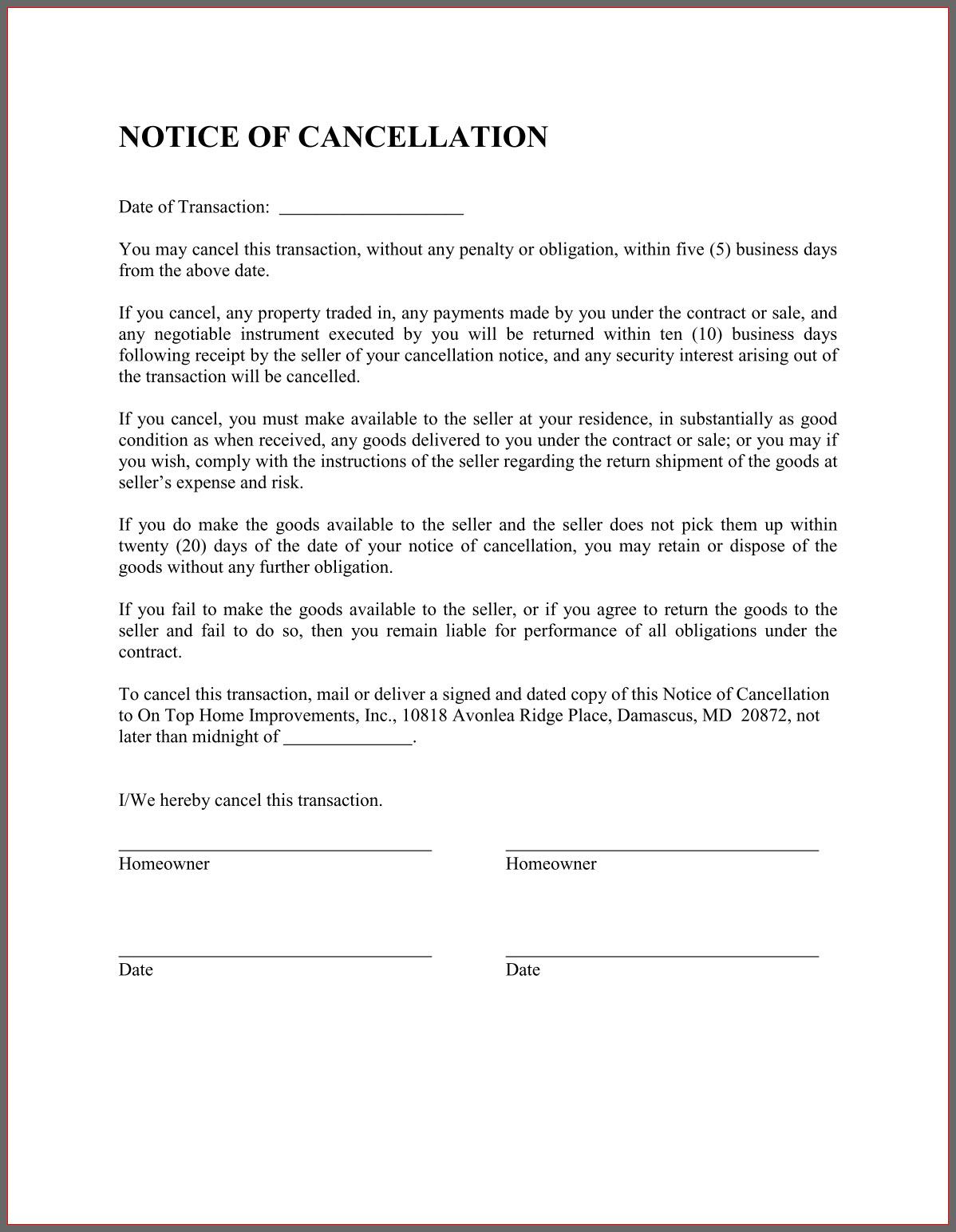 Termination Letter Format For Layoff From Business