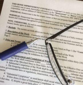 MD Home Improvement Customer Agreement