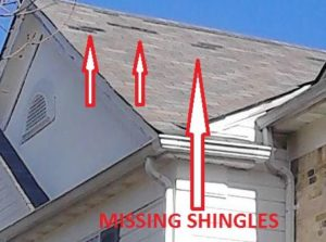 Missing Roofing Shingles